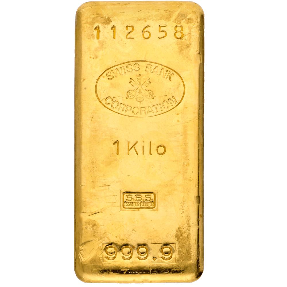 Komplettes Sortiment an Goldbarren